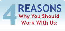 4 Resons Why You Should Work With Us